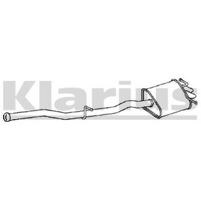 1x OE Quality Replacement C270 2.7CDI SA/ES/CO 02 05 Rear / End Silencer Exhaust • 72.34£