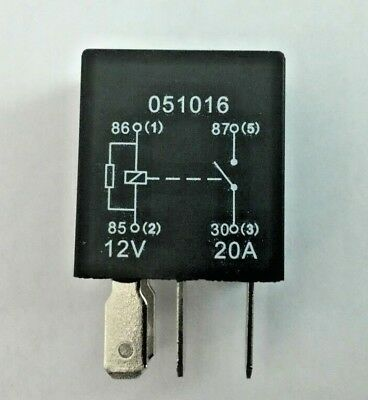 Micro Relay 4 PIN 12v 20a + Resistor Normally Open Mini 20 Amp CAR VAN BOAT MRY5 • 2.75£