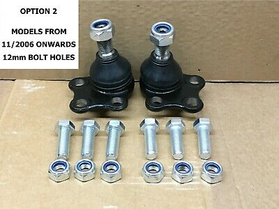 PAIR OF FRONT LOWER BALL JOINTS (12mm) FOR TRAFIC VIVARO PRIMASTAR 2006-2014 • 21.95£