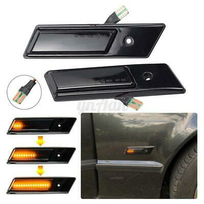 Smoked Dynamic LED Side Indicator Light Turn Signal For BMW 3 Series E36 E34 E32 • 12.49£