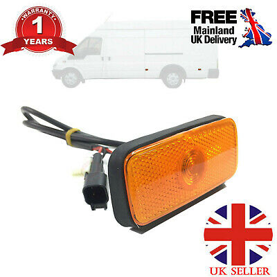 Side Marker Light Lamp With Wiring Loom Fits Ford Transit Mk6 Mk7 Vyc155034ac Uk • 7.99£