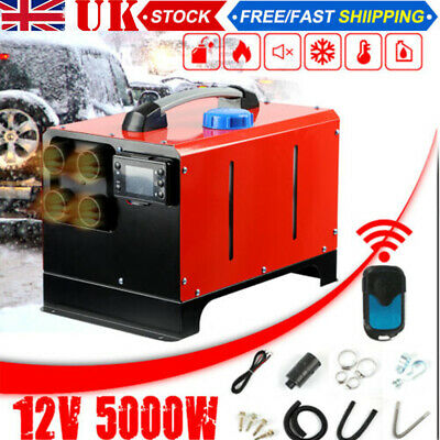 12V Air Diesel Night Heater 5KW 4Holes LCD Monitor For Trucks Boats Car Home AK • 109.99£