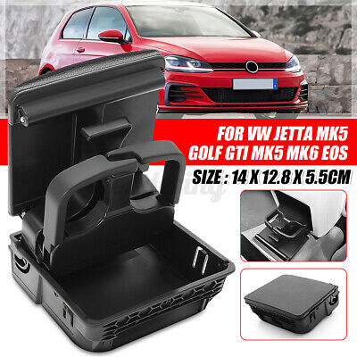 Rear Center Console Armrest Cup Holder For VW Jetta MK5 Golf MK6 GTI EOS UK • 17.99£