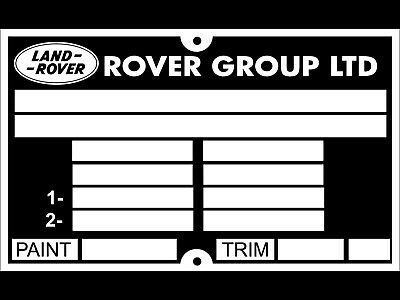 Land Rover Range Rover Defender Discovery 2 Chassis Plate Vin Plate FREE POST • 9.50£