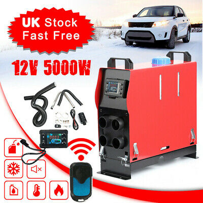 12V 5000W Air Diesel Night Heater LCD Display 5KW For Car Truck Motor-Home UK • 102.99£