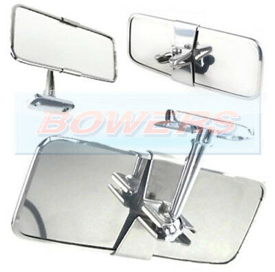 Universal Stainless Steel Chrome Classic Or Kit Car Interior Rear View Mirror • 15.49£
