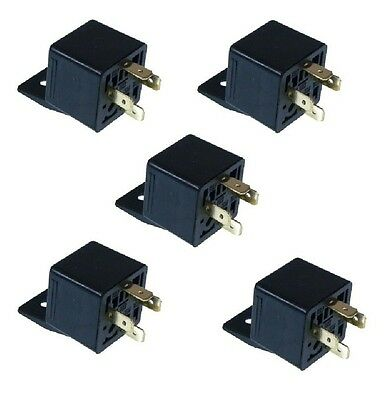 5 X 4 Pin 12v 30A AUTO RELAYS For Aux Lights Horns Etc Car Boat Van Motorbike • 8.95£