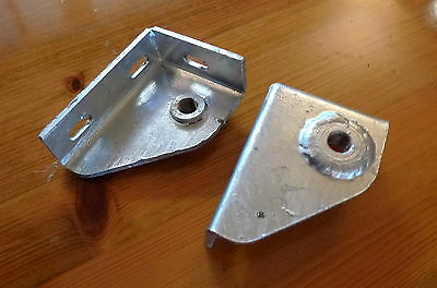 2x Seatbelt Mounting Brackets Galvanized For Land Rover Series 2A/3 Defender • 25.95£