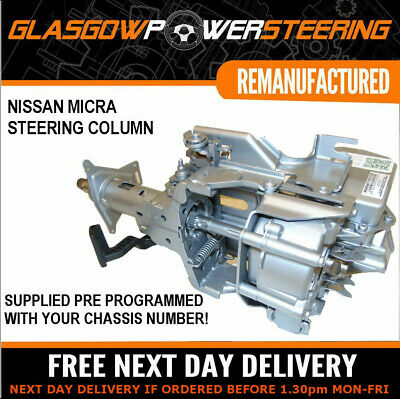 NISSAN MICRA ELECTRIC POWER STEERING COLUMN PRE-PROGRAMMED WITH YOUR CHASSIS No! • 265£