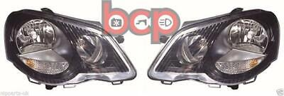 Vw Polo Gti 2005 -2008 9n Black Headlights Headlamps Pair Left And Right  • 159.99£