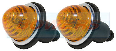 2x LAND ROVER CLASSIC MINI FRONT/REAR AMBER INDICATOR LAMPS LIGHTS AS LUCAS L594 • 16.80£