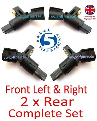 VW AUDI Front & Rear ABS Speed Sensor Left & Right O/s N/s MK4 Golf A3 TT SEAT • 14.99£
