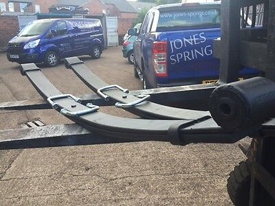 Pair Of IVECO DAILY HD 2 Leaf Rear Springs + U Bolts 2014 On - Single Wheeler • 326£