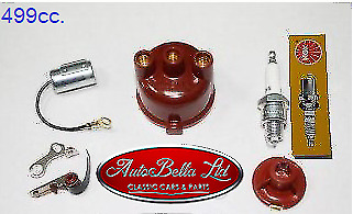 Classic Fiat 500 Ignition Kit Set Condenser Points Rotor Distributor Cap Spark • 38.90£
