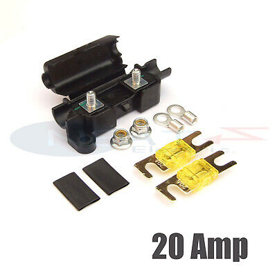Midi Car Inline Fuse Holder With 2 X 20 Amp Midi Fuses Terminals And Heat Shrink • 4.79£