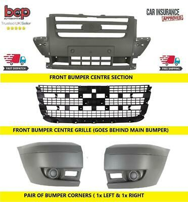 Ford Transit Mk7 2006 - 2014 Front Bumper Complete All 3 Sections & Main Grille  • 93.49£