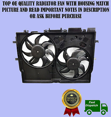 Twin Radiator Fans With Housing For Fiat Ducato Peugeot Boxer Citroen Relay • 109£