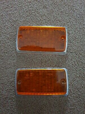Pair Of Mk1 Escort Front Indicator Lens Pre Owned Gen Ford 1 Pair Mexico Rs2000 • 19.99£