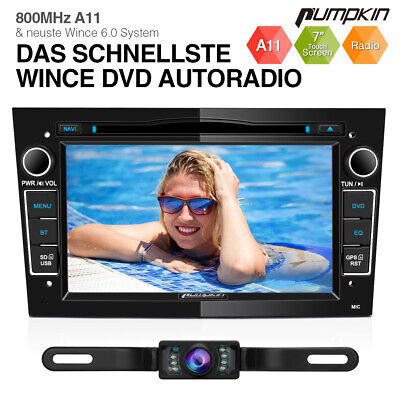 Pumpkin 7  Car Radio Stereo DVD Player GPS Head Unit For Opel Corsa Astra+Camera • 188.88£