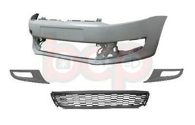 Vw Polo 6r Front Bumper 2009 - 2014 Kit Primed With Grilles Fog Type Oe Quality  • 89.99£