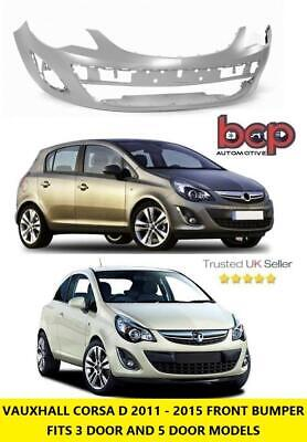 Vauxhall Corsa D 2011 - 2015 Front Bumper New Facelift Primed Insurance Approved • 72.25£