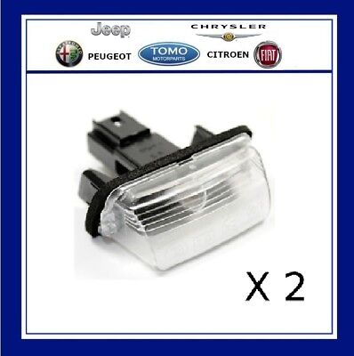 Pair Of Rear Number Plate Light Lamp Fit For Citroen C3 C4 C5 Picasso 6340A3 • 7.44£