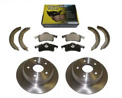2 X Rear Disc + Ceramic Pads + Parking Shoes For Jeep Grand Cherokee Wj 99-04 • 76.89£