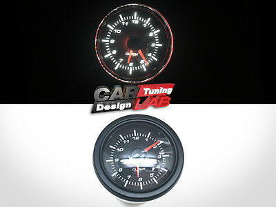 52mm Clock Time Car Auto/Truck Gauge Meter White LED / Clear Lens 12V • 29.43£