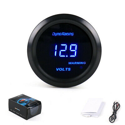 2  52mm Universal Blue Digital LED Volt Meter Electronic Voltage Gauge Tint Lens • 10.13£