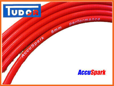 Silicone HT Lead 8mm Red Double ,AccuSpark Ignition Wire On Roll, Sold Per Meter • 2.50£
