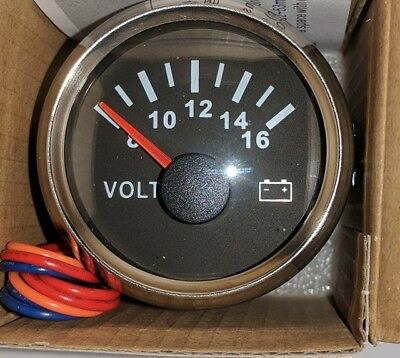 Voltage Gauge For Truck/Car/Boat/Motorcycle UK Stock • 21£