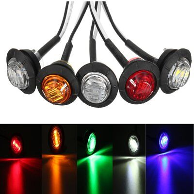 12V Car Truck Lorry Round LED Bullet Button Rear Side Mini Marker Lights Lamp  • 11.63£