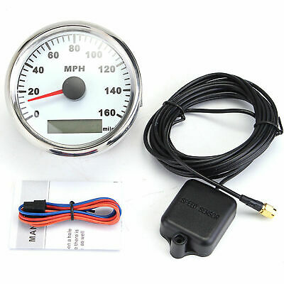 85mm Digital Curved Glass GPS Speedometer 160MPH Gauge For Car Truck Motorcycle • 53.99£