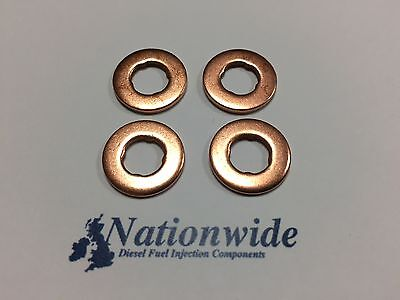 Vauxhall Corsa 1.3 CDTi Common Rail Diesel Injector Washers Seals X 4 • 4.97£