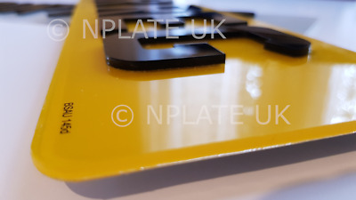 PAIR 4D Car Number Plates Black 3D Raised Acrylic Road MOT Legal Front And Rear • 21.75£