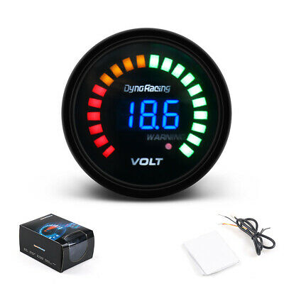2'' 52mm Electronic Auto Voltage Gauge Digital Analog LED Black Car Volt Meter • 11.14£