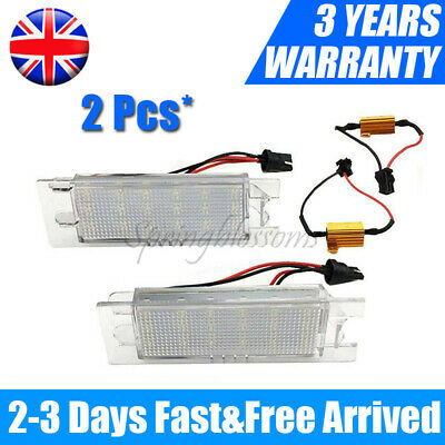 For Vauxhall Opel Astra H Corsa C/D Zafira B Adam LED License Number Plate Light • 11.38£