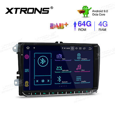 XTRONS 9  Android 9.0 Car Head Unit Stereo Sat Nav GPS 2+16GB For VW Golf MK5 • 226.99£