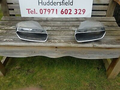 Audi A6 A7 4g0 C7 Pair Left & Right Chrome Tipped Exhaust Tail Pipe 4g0253825 • 100£