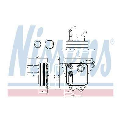 Genuine Nissens Upper Gearbox Oil Cooler - 91122 • 67.43£