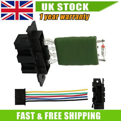 Heater Blower Motor Fan Resistor & Wiring Loom For Fiat Punto Grande Punto Qs • 13.59£