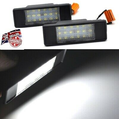 2x PIECES MERCEDES BENZ SPRINTER VITO VIANO NUMBER PLATE LED LIGHTS T10 W5W • 12.85£