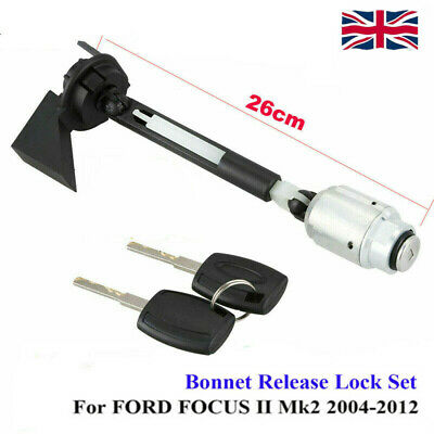 BONNET RELEASE LOCK LATCH CATCH COMPLETE For FORD FOCUS MK2 2004-2012 C MAX KUGA • 13.99£