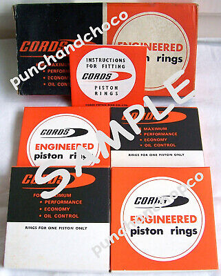 VAUXHALL VICTOR, VIVA, BEDFORD CF ETC~ CORDS PISTON RING SET No: 823 O/S STD~NEW • 24.99£