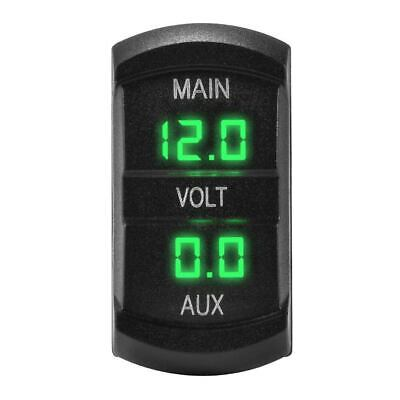 12V LED Dual Voltmeter  Gauge Green Digital Battery Monitor Socket MA1746 New • 8.99£