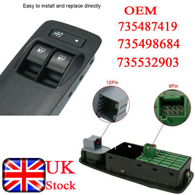 Electric Power Window Switch Fit For Peugeot Boxer Fit For Citroen Relay Ducato • 14.59£