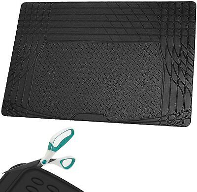 Car Boot Liner Mat Heavy Duty Durable Water Resistant Protector - Rubber Black • 9.99£