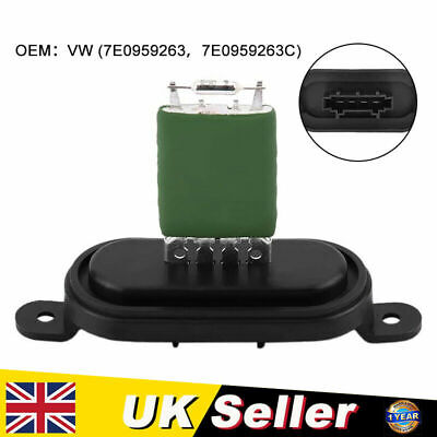 Heater Blower Resistor Fan Motor Resistance For VW T5 Transporter Multivan T5 • 6.99£