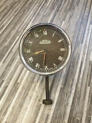 Superb Vintage Jaeger 8 Day Dashboard Car Clock Nice Example Working Well • 99.50£