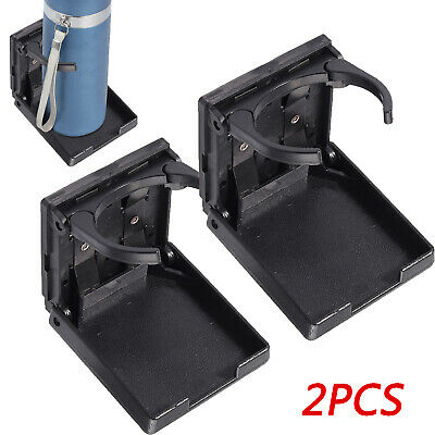 2X Adjustable Drinking Cup Holder Foldable Black For Truck Boat Van Universal UK • 12.95£